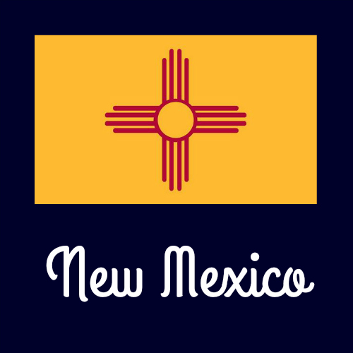 State flag coloring pages by usa facts for kids for New mexico state flag coloring page