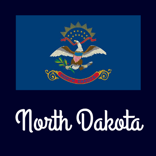 State flag coloring pages by usa facts for kids for North dakota state flag coloring page