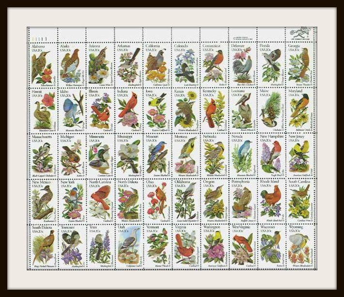 State Bird and Flower Stamps