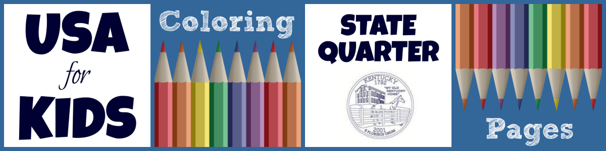 State Quarter Coloring Pages by USA Facts for Kids