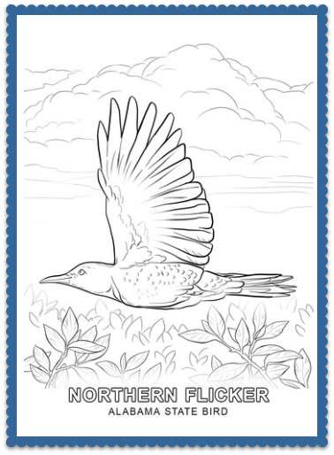 Alabama State Bird Coloring Pages