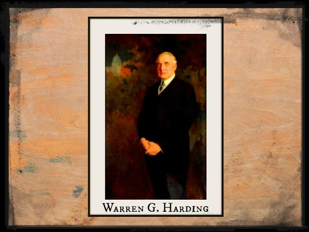 President Warren G Harding