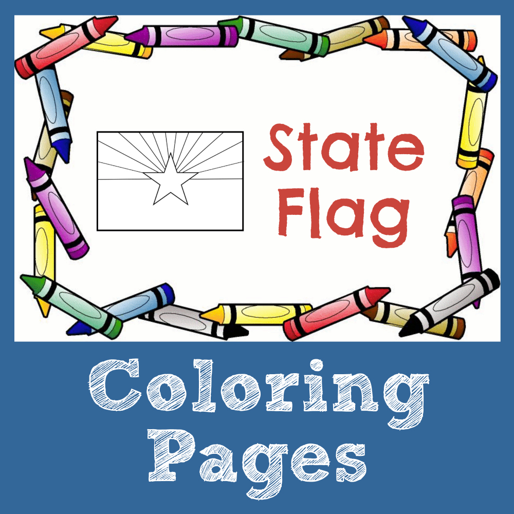State Symbol Coloring Pages by USA Facts for Kids