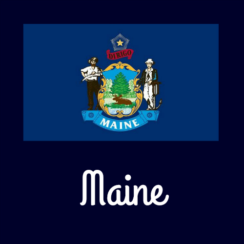 State flag coloring pages by usa facts for kids for Maine flag coloring page