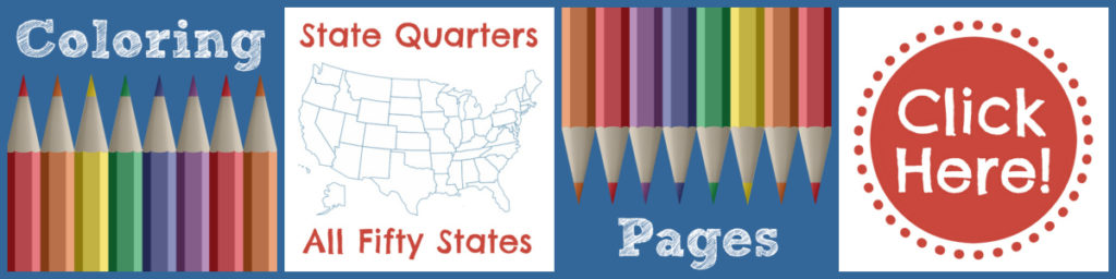 State Quarter Coloring Pages Collectible Quarters
